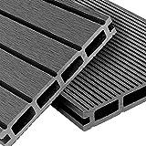 HOCHWERTIGES MATERIAL – Recycelbar, besonders formstabil & robust dank rutschfestem WPC-Verbundstoff (aus ca. 60% Holz & 40% Kunststoff) - 1. Wahl SPLITTERFREI - Barfußfreundlich & rissfrei sorgt der hohe Kunststoffanteil der Terrassen-Platten zusätz...