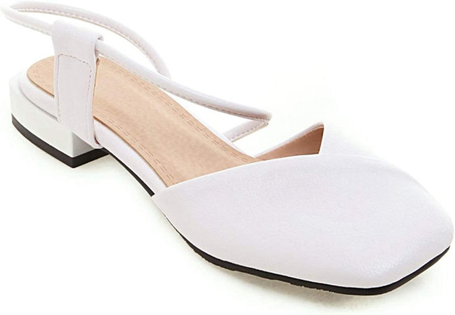 Low-Heeled Baotou Sandals Rubber Sole Low-Heeled Square Head College Style shoes