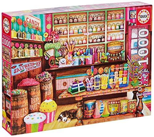 Educa - Tienda de Dulces Puzzle, 1000 Piezas, Multicolor, 1.000 (17104)