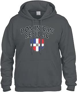 Cybertela Dominican Republic Flag Crest Shield Sweatshirt Hoodie Hoody