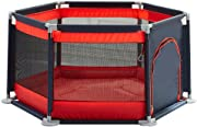 GYM Playpens for toddler playpen baby Play Yard Home play fence playpens for babies Playmat Baby Protective Fence playpen baby  Color Red  Size 140 65cm