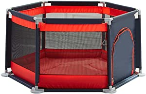 TTW Playpens for toddler playpen baby Play Yard Home play fence playpens for babies Playmat Baby Protective Fence playpen baby  Color Red  Size 140 65cm