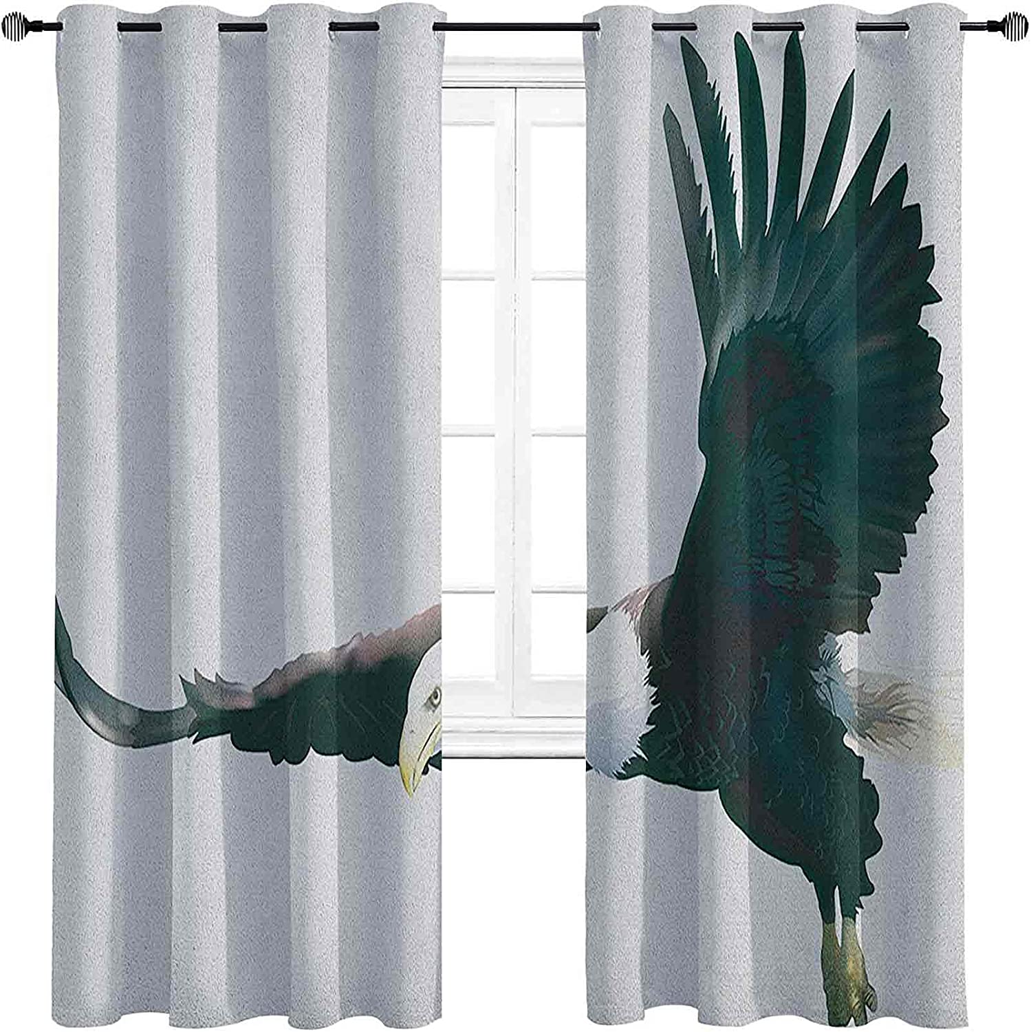 Eagle 90%-99% Blackout Max 57% OFF Lining Curtain Baltimore Mall Digital of Art a Pre Huge