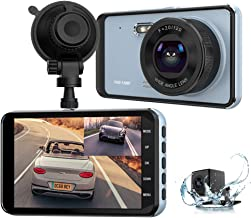 $66 » Dual Dash Cam, Car Dashcam Front and Rear View Camera 1296P HD 4 Inch IPS Touch Screen with Night Vision Support 64GB Memory Card