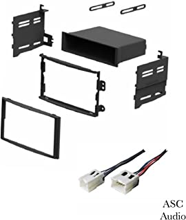 ASC Car Stereo Dash Install Kit and Wire Harness for Installing an Aftermarket Radio for 2003 2004 2005 Nissan 350z