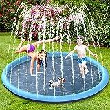 BOIROS Splash Pad Juegos de Agua para Niños, Juegos Acuaticos Aspersor Almohadilla Juego de Agua para Jardin Exterior, PVC, Juego de Agua para Jardin de Verano para Familiares (68 Pulgadas/170 CM)