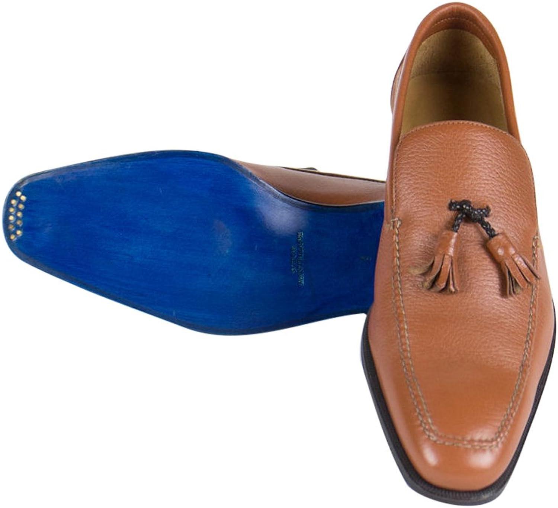Sutor Matellassi Burnt Sienna Brown Tassel Leather shoes Size 10