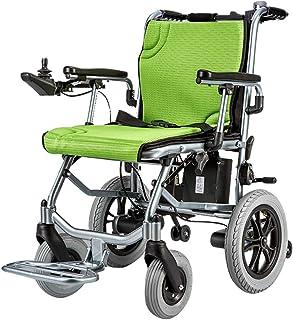 silla de ruedas eléctrica eléctricas Motor de Control Dual Ligero y Plegable Alcance de hasta 20 km para discapacitados Ancianos Verde