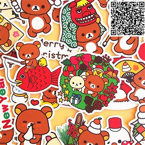 KATTERS Nuevas Pegatinas de Moda de Juguete para Diario de Libro de Ejercicios de Bricolaje 32 Hojas por Paquete de Juguetes para niños Pegatina de Juguete de Colores