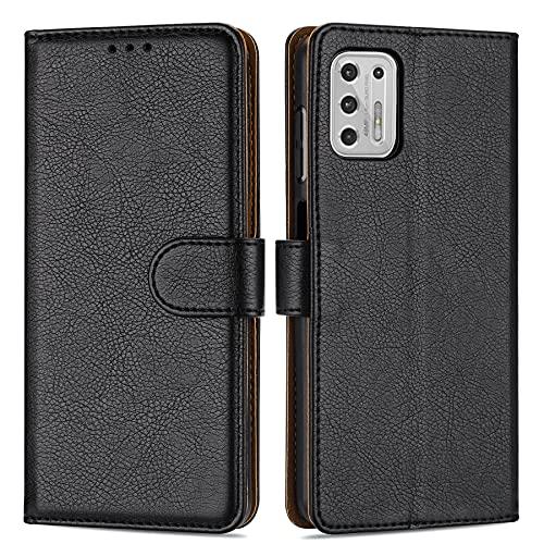 Case Collection - Funda de piel con tapa para Motorola Moto G Stylus 2021 (cierre magnético, función atril, ranuras para tarjetas) y funda para teléfono móvil de 6,8 pulgadas)