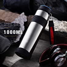 Stainless Steel Thermos, Easy to Carry, Large Capacity Thermos Outdoor Sports Creative Gift Insulation Cup,Natural