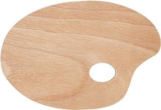Tavolozza ovale in legno 11,75 x 15,75 in, confezione da 6