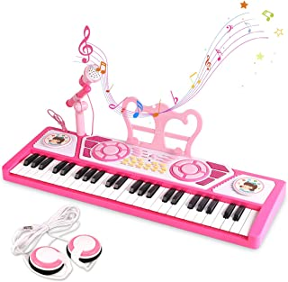 BAOLI 49 Keys Kids Keyboard Piano Toy with Microphone for Be