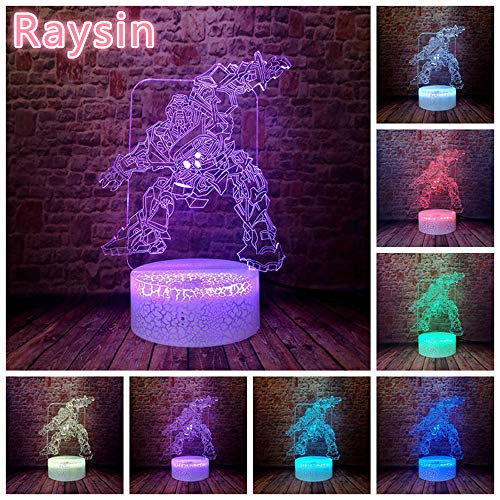 Coole Transformation Aktion Anime Figur Roboter HummelBright 3D LED Nachtlicht USB Tischlampe Kinder Geburtstag Geschenk Nachtdekoration am Bett
