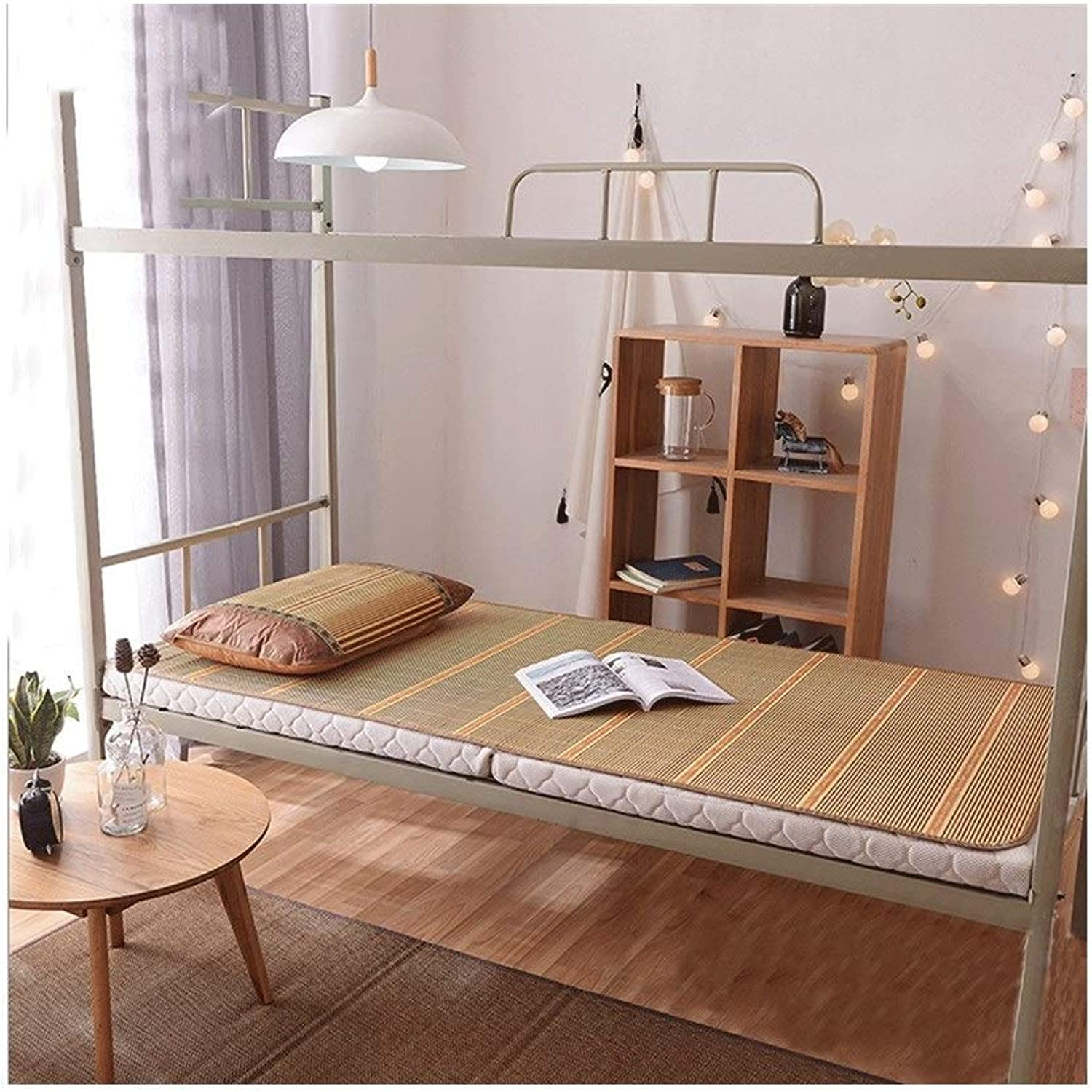 Bamboo Mat Double-Sided Folding Single Student Dormitory Bamboo Mat Without Burrs Natural Environmental Predection No Smell