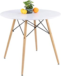 Furmax Kitchen Dining Table Modern Style Round Leisure...