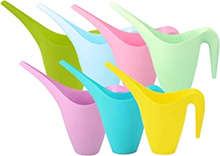 Yesland Set of 7 Plastic Watering Can - 1.8 L Easy Pour Watering Pot with Long Spout for Bonsai Indoors and Outdoors