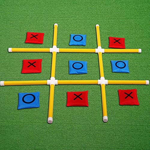 OTTARO Outdoor Games for Adults and Kids, Yard Toss Games with Portable PVC Framed, Giant Tic Tac Toe Game Outdoor Indoor