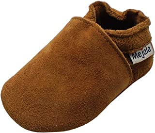 Mejale Baby Infant Toddler Shoes Anti-Slip Soft Soled Leather Moccasin Pre-Walker
