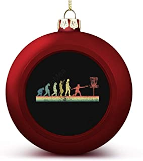 Christmas Ball Ornaments Disc Golf Funny Sports Evolution Hanging Ball Decorative for Christmas Trees,Holiday Party