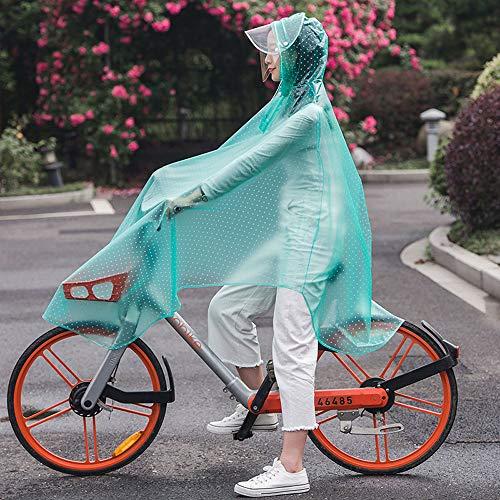 Herren Damen Fahrrad Fahrrad Fahrrad Regenmantel Regen Cape Poncho Kapuze Winddicht Regenmantel Mobilität Roller Abdeckung - Hut Doppelkrempe Design (XXXL),Grün,XXXL