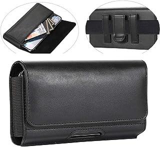 PU Leather Phone Holster Belt Holder For Samsung Galaxy S21+ S20 S10 Plus S20 FE Note 20 A52 A51 A31 A10S A11 J7, iPhone 1...