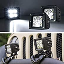 iJDMTOY (2) 3-Inch Cubic 20W CREE LED Pod Lights For Truck Jeep Off-Road ATV 4WD 4x4, Xenon White