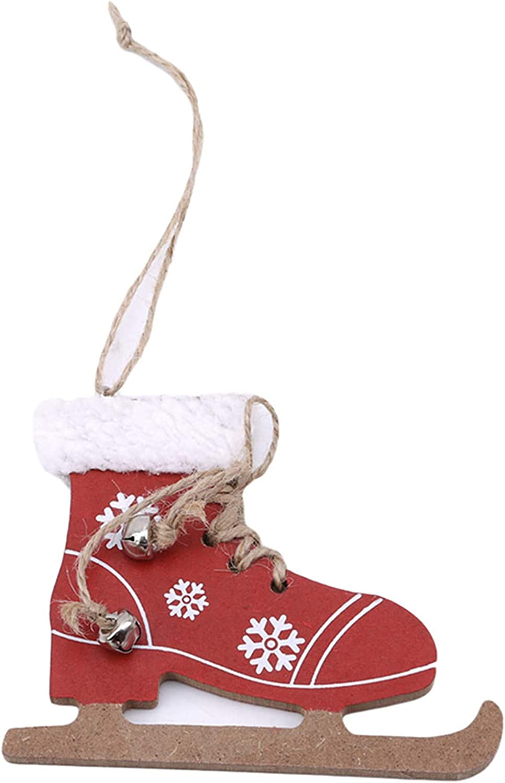 Sperrins Finally resale start Wooden Ice Regular store Skates Shoes Pendant Christma Tree Christmas