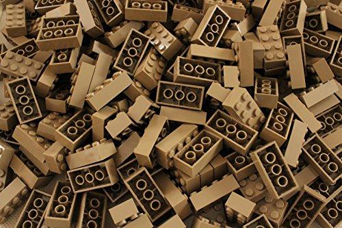 LEGO Ladrillos: Tan Oscuro 2x4. Parte 3001 (X 25)