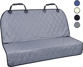 Vivaglory Dog Car Seat Covers with No-Skirt Design, Quilted & Durable 600 Denier Oxford 4 Layers Pet Car Protectors with Anti-Slip Backing for Most Cars, SUVs & MPVs, Bucket & Bench Available