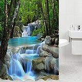 3d Cascadas Paisaje baño cortina de ducha resistente al agua Gamuza de blindaje...
