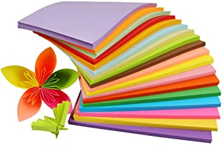 100 Sheets 11.6Inch X 8.2Inch A4 Coloured Rectangle Multipurpose Double Sided Copy Paper Origami Folding Paper for DIY Han...