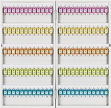 Furniture صندوق تخزين المفاتيح 5 صفوف من الخزائن الرئيسية ، صندوق إدارة مفتاح السيارة والمكتب المثبت على الحائط 120 فتحة (...