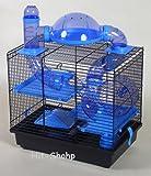Hamsterkäfig teddy lux blau 41x27x39