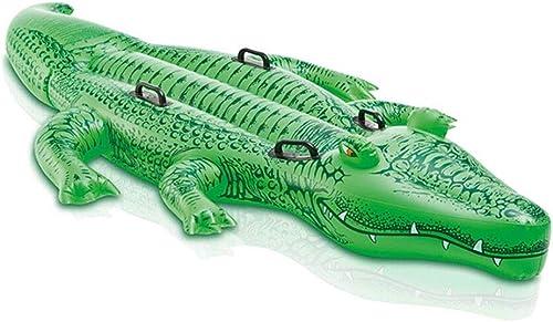 Le lit d'air de Piscine de Crocodile de Dessin animé d'enfant PVC épaississent la Piscine Gonflable Joue 203X114CM de Jouets KKY-Enter