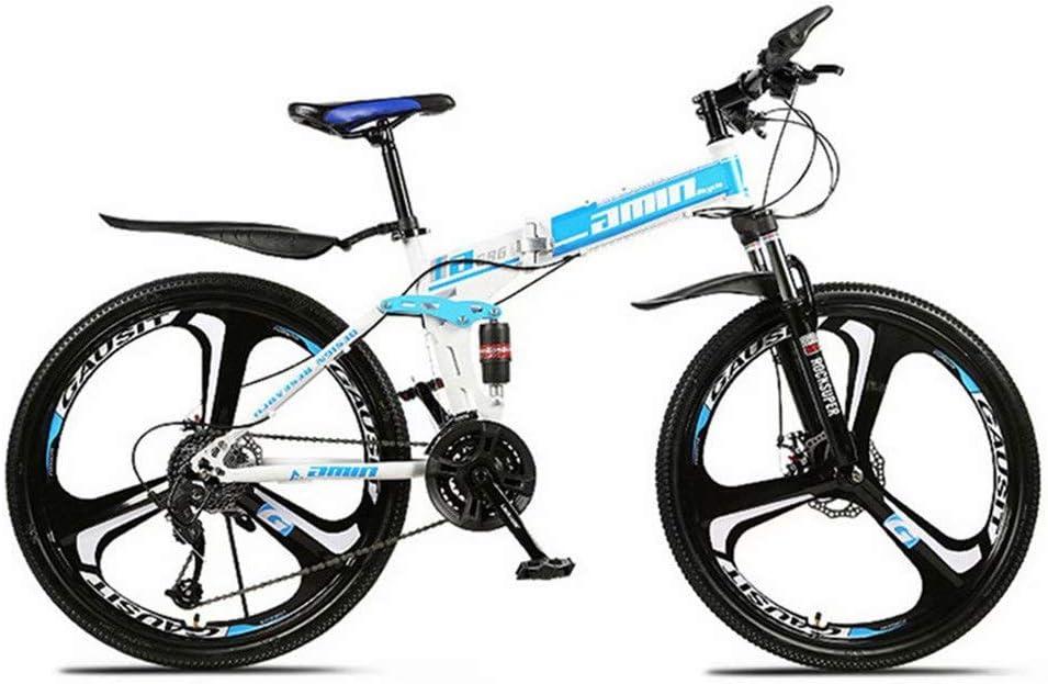San Ren Bicicleta De Monta/ña Bicicleta De Monta/ña con Suspensi/ón Completa Bicicleta De Monta/ña Plegable para Adultos Unisex