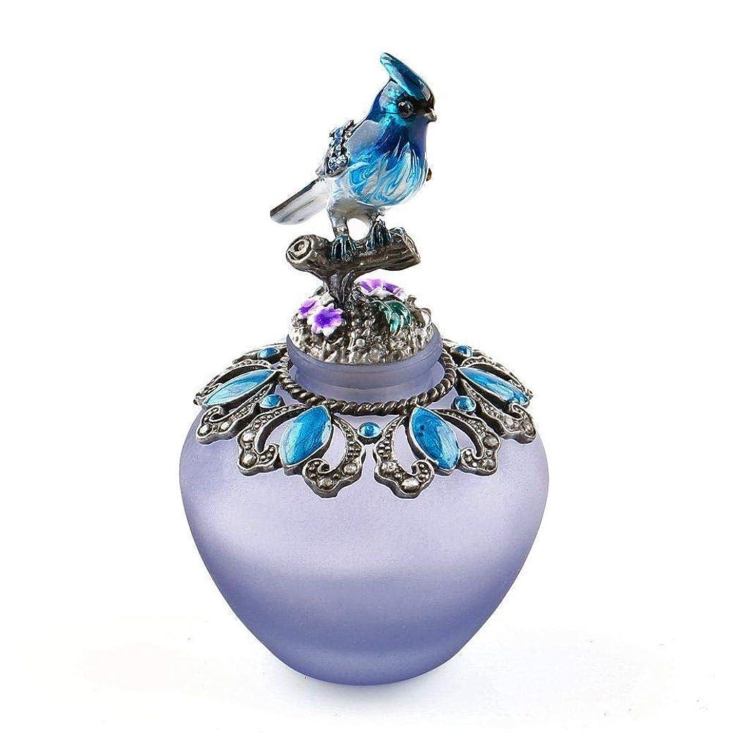 ファセット注入する反論者EasyRaku 高品質 美しい香水瓶 鳥40ML ガラスアロマボトル 綺麗アンティーク調欧風デザイン クリスマスプレゼント 結婚式 飾り