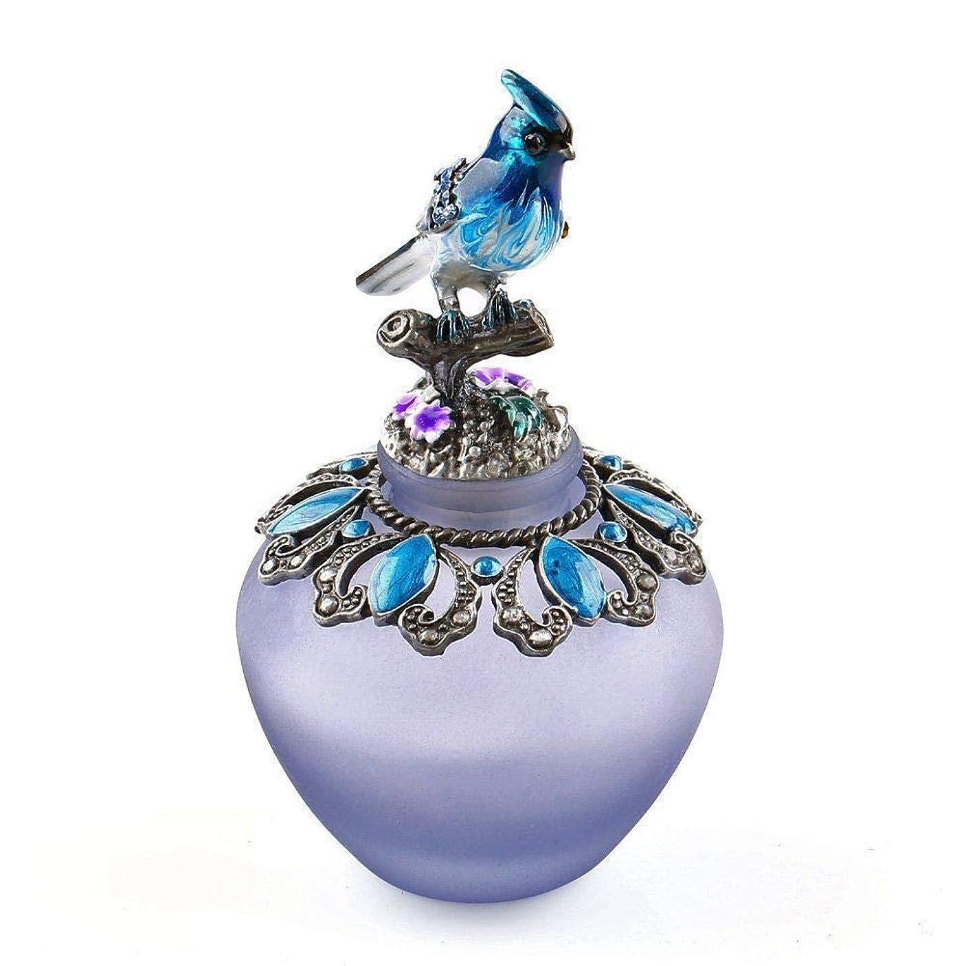 ベアリングリラックスした決定するEasyRaku 高品質 美しい香水瓶 鳥40ML ガラスアロマボトル 綺麗アンティーク調欧風デザイン クリスマスプレゼント 結婚式 飾り