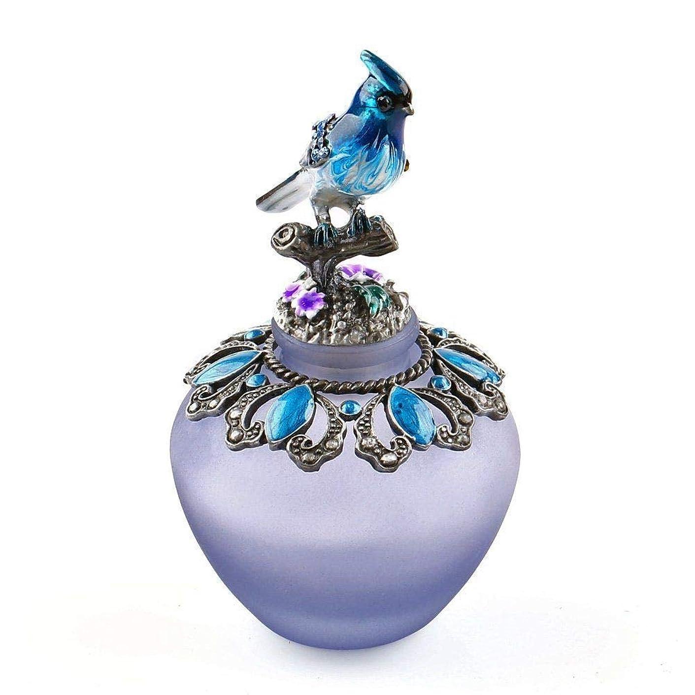 暗殺する迷信壁紙EasyRaku 高品質 美しい香水瓶 鳥40ML ガラスアロマボトル 綺麗アンティーク調欧風デザイン クリスマスプレゼント 結婚式 飾り