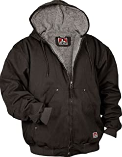 Ben Davis Men's Fleece/Sherpa Lined Hooded Canvas Jacket