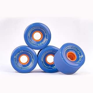 Sixty-Six Longboard Wheels 70mm (Blue) [Set of 4]