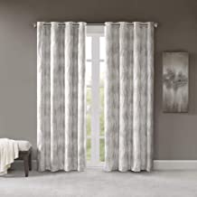 SUN SMART Total Blackout Victorio Printed Jacquard Grommet Top Window Curtain Panel Thermal Insulated Light Blocking Drape...