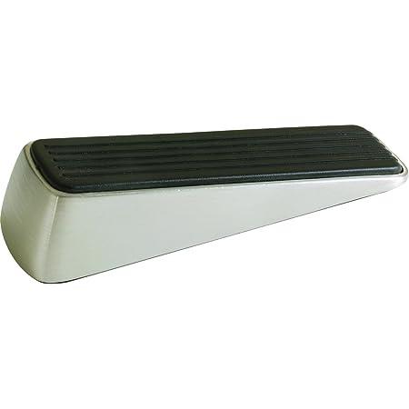 Shepherd Hardware 3314 Designer Satin Nickel Door Wedge with Non-Skid Rubber Base Grip