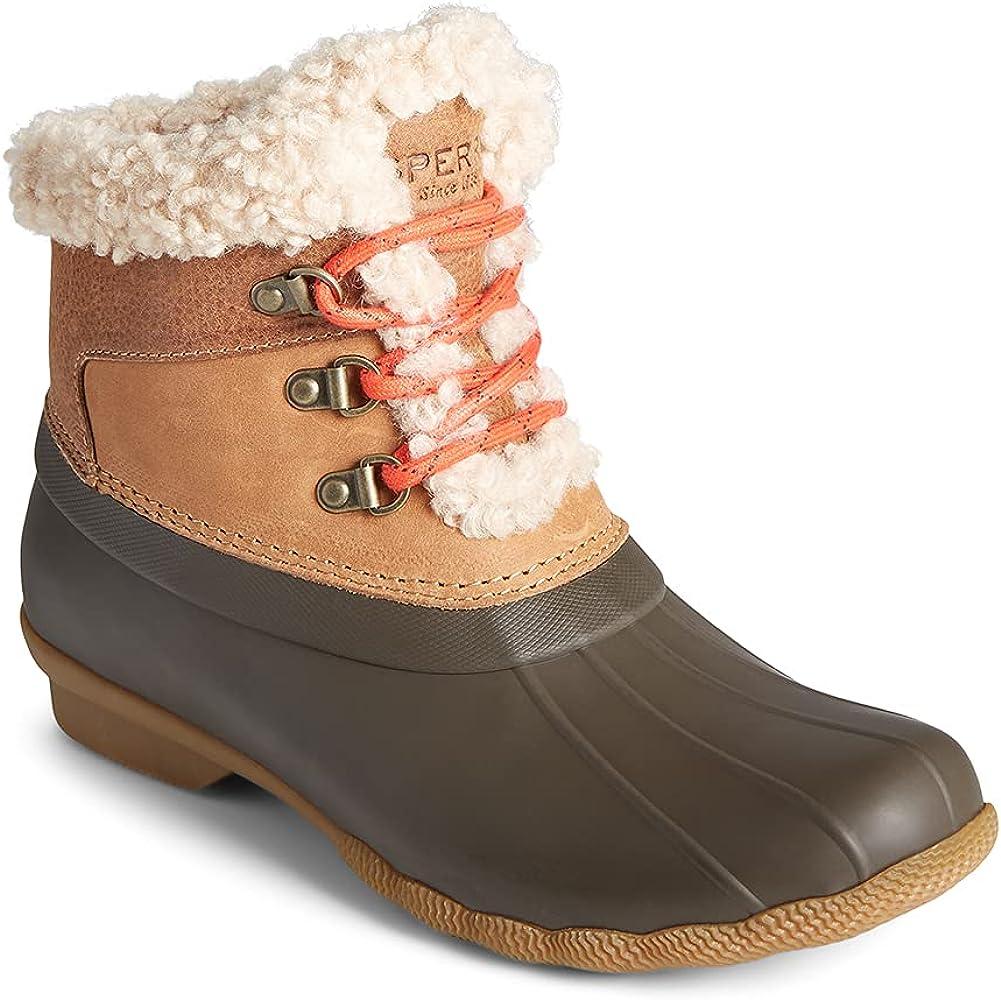Sperry Women's Saltwater Alpine Leather Snow Boot, Tan, 7.5