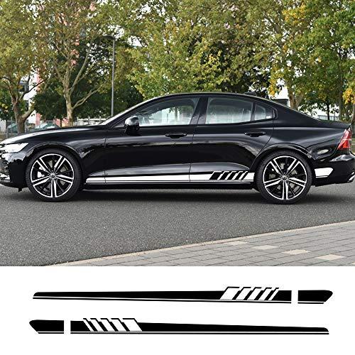 FSXTLLL Auto Seitenstreifen Seitenaufkleber Aufkleber, für Volvo S60 XC90 V40 V50 V60 S60 S90 V90 XC60 XC40 AWD T6