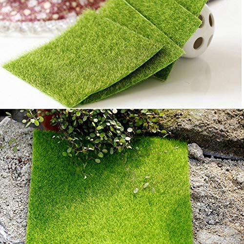 NOWAYTOSTART Kunstrasen grün Rasenteppich Kunstrasenteppich,für Anschluss von Fake Grass Carpet Lawn Mat (2 Größe)