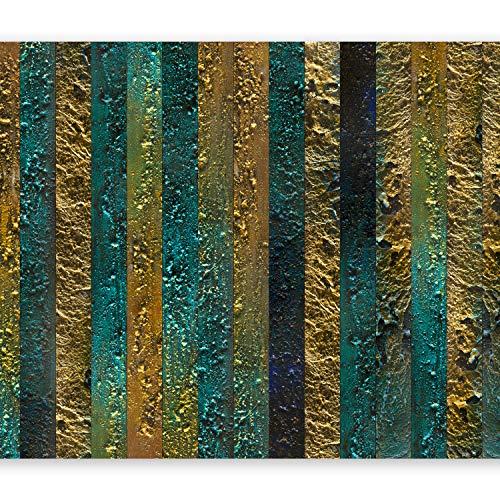 murando Fototapete 350x256 cm Vlies Tapeten Wandtapete XXL Moderne Wanddeko Design Wand Dekoration Wohnzimmer Schlafzimmer Büro Flur Textur Gold Abstrakt - wie gemalt f-A-0436-a-a