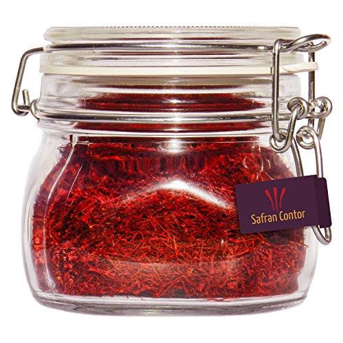 SafranContor Safran in Fäden, Negin-Qualität, 50 g im Glas