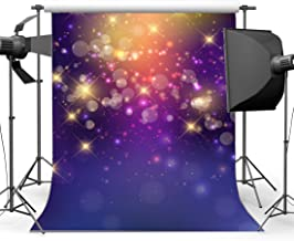 Gladbuy Vinyl 3X5FT Bokeh Backdrop Glitter Sequins Sparkle Spots Romantic Light Purple Wallpaper Photography Background for Sweet Baby Shower Girls Princess Wedding Party Photo Studio Props KX154