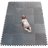 YIMINYUER Bebés Suave Silencioso Alfombra, Niños Puzzle Alfombrilla, Encajable Suelo Pad, Infantil...
